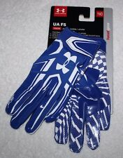 Under Armour Blue UA F5 Youth Boys Kids Football Gloves YMD 1271185 NEW Pair
