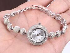 Sterling Silver Wristwatch #23528 33 Grams Topaz .925 Solid