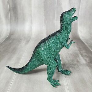 "Vintage Greenbrier Tyrannosaurus T-Rex 7"" tall 10"" long Dinosaur Green Figure"