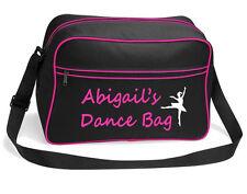 Personalizzato Balletto Danza Borsa che balla il tuo nome Borsa a tracolla Ragazze Scarpe Scuola