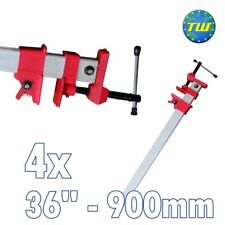 "4x 36"" Sash Clamp Lightweight Aluminium Body Quick Release 900mm 90cm Cramps"