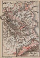 Montaña & Monasterio de Montserrat. Topo-map. España España Mapa 1913 Antiguo