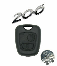 Fits Peugeot 206 2 BUTTON REMOTE KEY repair kit 2 micro switches +battery CR2016