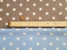 Rose & Hubble Baby Blue or Grey & White Star Fabric // 100% Cotton, 112cm Wide