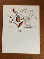 Vintage Art Deco French Menu Card Unused Cheeky Roger Cartier Design