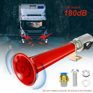 12/24V Red Super Loud Air Horn Trumpet For Car Truck Boat Train With Air Brake