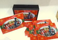 Santa's Express Train Christmas Cards OPEN Box 6 with Envelopes 3D Santa Claus