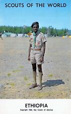 "# M428    BOY SCOUTS,   "" SCOUTS OF THE WORLD ""  POSTCARD,  ETHIOPIA"