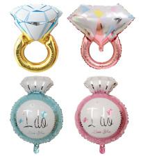 Diamond Ring Engagement Wedding Celebration Foil Helium Balloon