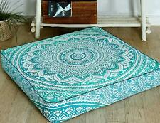 """35"""" Indian Square Mandala Ottoman Case Cushion Floor Pillow Seating Cover Pouf"""
