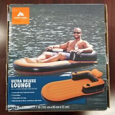 Ozark Trail Ultra Deluxe Inflatable Lounge Chair Lake Pool River Float Raft