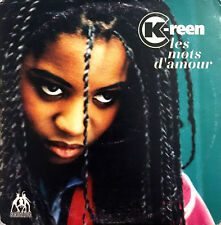 K-Reen CD Single Les Mots D'Amour - Promo - France (G+/G+)
