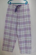 Women Alfani Printed Flannel Cotton Pajama Pants Purple Plaid Glittr Dot 2XL NWT
