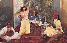 CPA EGYPTE ILLUSTRATEUR DANSE INDIGENE