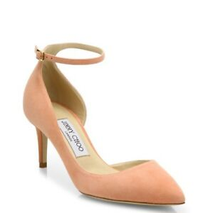 New Jimmy Choo 'Lucy' Pink (Rose) Suede 85mm D'Orsay Pumps Size 40/10US $695.00