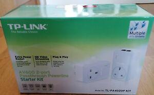 TP-Link TL-PA4020P KIT AV600 Powerline 2 Port Adapter Kit