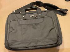 TARGUS Laptop Computer Messenger Bag Shoulder Black  Canvas  Briefcase  AWESOME!