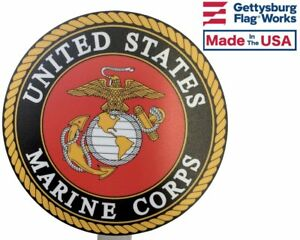 Marine Corps Printed Resin Grave Marker Full Color Design Memorial Flag Holder