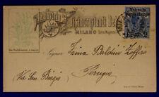 Storia Postale Pubblicitaria Disincrostanti Milano Regno 2 Centesimi su 20#SP139