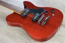 G&L Tribute ASAT Junior II Electric Guitar Brazilian Cherry Board-Trans Red Tint