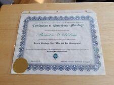 2010 Certification In Bartending Mixology Beer Wine and Bar Management ephemera