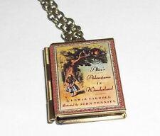 lice in Wonderland Book Charm LOCKET Necklace Alice's Adventures in Wonderland