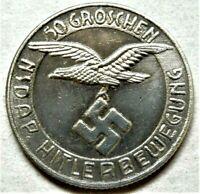 WW2 GERMAN COLLECTORS COIN 50 GROSCHEN NSD - AP KANTINEGELD