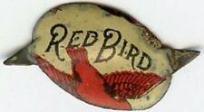RED BIRD TOBACCO TAG ANTIQUE VINTAGE METAL TIN