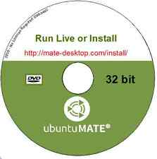 Ubuntu MATE 16.04.4 Live or Install Linux Operating System 32 bit + Libre Office