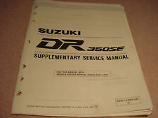 Suzuki 1995 DR350SE Supplementary Service Manual P/N 99501-43040-03E