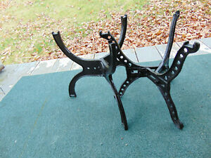 2 Vintage Industrial Cast Iron Water Tank Heater Stands Patio Garden Plants