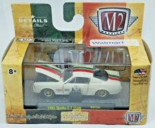 M2 Machines 1965 Shelby GT350R White Opening Hood Doors & Rubber Tires w Case