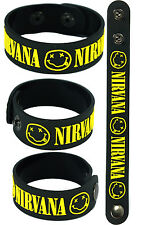 NIRVANA NEW! Rubber Bracelet Wristband Free Shipping! aa100 Black Nevermind