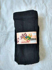 Girl Winter 90% Wool Black Tights 9-10 Years