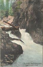 c1907 Hand-Colored Postcard The Gorge, Duchabush River near Everett WA Snohomish
