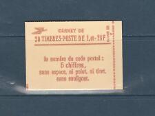 France carnet  de 20 timbres 2102 c7 Sabine  1f40 rouge avec numero conf 8 neuf