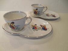 GLO-WHITE IRONSTONE ALFRED MEAKIN ENGLAND Two Indian Luncheon Sets Cups & Plates