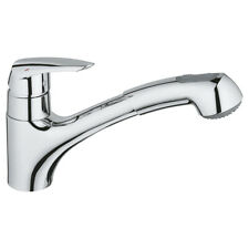 GROHE 32257001 Eurodisc Kitchen Mixer Tap With Pull Out Dual Spray - NEW