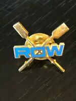 Collectible Vintage Row Rowing Paddles Colorful Metal Pinback Lapel Pin Hat Pin