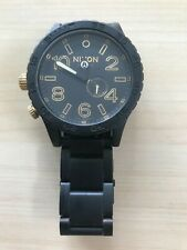 Nixon 51-30 Chrono Wrist Watch for Men - Matte Black
