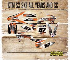 KTM SX SXF 85 125 250 450 FULL MOTOCROSS GRAPHICS KIT-FULL STICKER KIT-TROY CAND