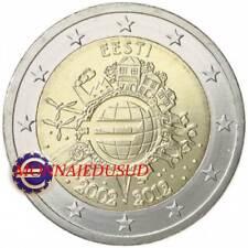 2 Euro Commémorative Estonie 2012 - 10 Ans de l'Euro TYE