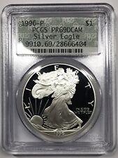 1996-P Proof Silver Eagle PCGS PR69DCAM - Retro Green Doily Holder