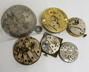 Vintage Antique Mechanical Watch Movement Job Lot