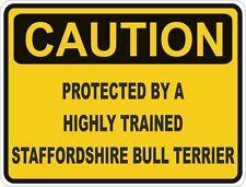 Dog Breed Staffordshire Bull Terrier Caution Sticker Pet for Bumper Car Door