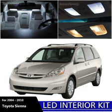 13PCS Cool White Interior LED Bulbs Kit for 2004 - 2010 Toyota Sienna