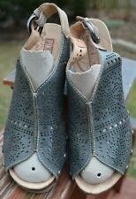 Pikolinos Benissa Wedge Slingback Heel Sandals Women's 8.5 Peep Toe Leather Cork