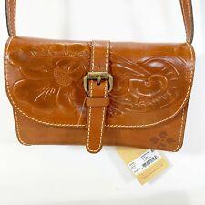 NEW Patricia Nash Torri Crossbody Purse Handbag  Leather Tooled Florence