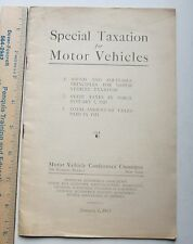 special taxation for motor vehicles 1923