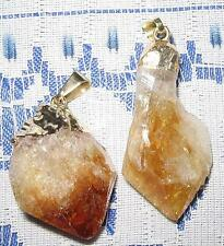 BEAUTIFUL *CITRINE* NATURAL CRYSTAL PENDANT WITH GOLD BALE/ FREE POST / A1 GRADE